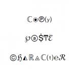 موقع قص و لصق ⇎ نسخ كل الحروف ↭ الرموز الخفية ↶ داخل لوحة المفاتيح.