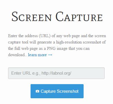 موقع يتيح لك التقاط صورة للشاشة من أي صفحة ويب عامة بنقرة واحدة.