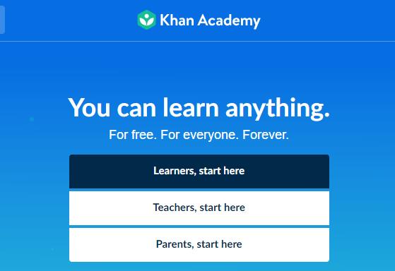 موقع أكاديمية خان للتعليم الذاتي.