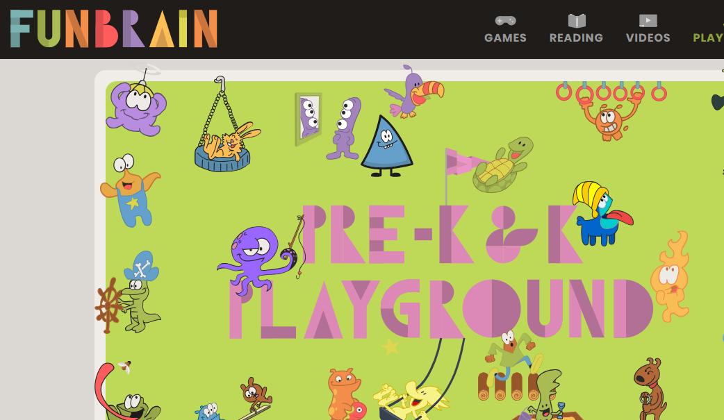 موقع فن براين لتعليم الأطفال بطريقة مسلية بالألعاب.