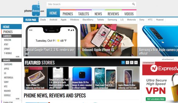 موقع فون آرينا لتقييم الجوالات و الأجهزة اللوحية التابلت