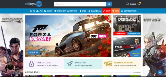 موقع سي دي كيز لألعاب أكس بوكس و بلاي ستيشن رخيصة